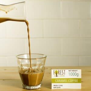 bubuk minuman caramel coffee