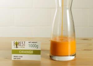 bubuk minuman orange