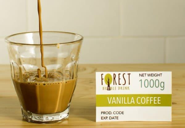 bubuk minuman vanilla coffee